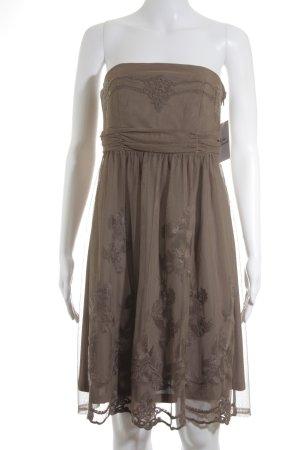 Esprit Vestido bandeau marrón claro elegante