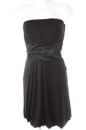 Esprit Robe bandeau noir motif animal élégant