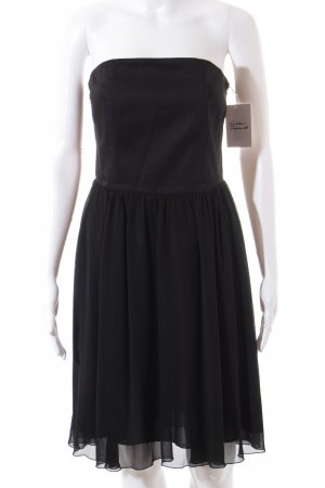 Esprit Vestido bandeau negro look casual