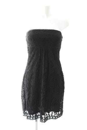 Esprit Vestido bandeau negro estampado floral estilo fiesta