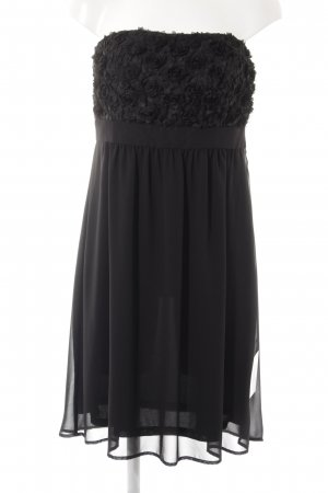 Esprit Vestido bandeau negro estilo fiesta