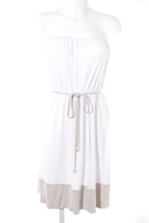 Esprit Bandeaukleid weiß-creme schlichter Stil