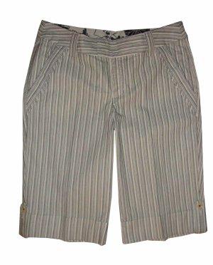 Esprit Bermuda Hose Baumwolle schwarz weiß gestreift Gr. 38 M neu