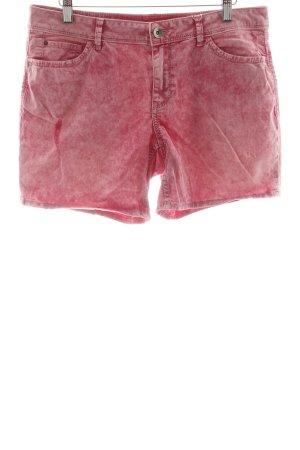 Esprit Bermuda rosa-weiß Batikmuster Casual-Look