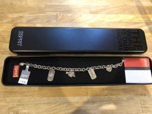 Esprit Armbandje met bedels zilver-donkergrijs Zilver