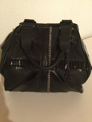 Esprit Pouch Bag black-silver-colored