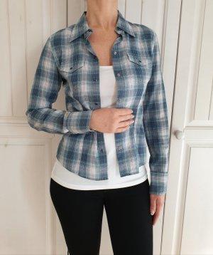 Esprit Blau Bluse Hemd 34 XS kariert Top T-Shirt Tshirt shirt shirt Business Klassik Anzug Blazer