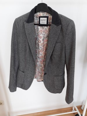 Esprit Blazer in lana grigio Lana
