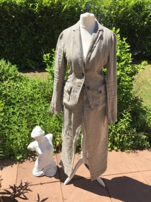 Esprit Trouser Suit oatmeal-khaki linen