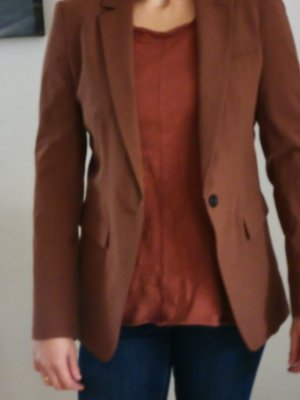 Esprit Boyfriend Blazer cognac-coloured cotton