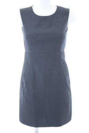 Esprit Robe crayon blanc-bleu foncé motif de tache style d'affaires