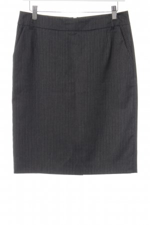 Esprit Pencil Skirt anthracite-white pinstripe business style