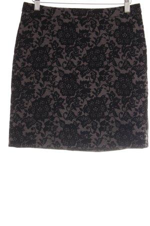 Esprit Bleistiftrock grau-schwarz abstraktes Muster Casual-Look