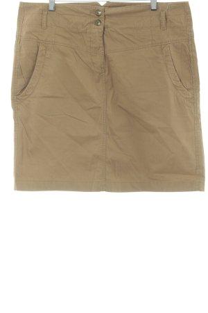 Esprit Falda de tubo marrón claro look casual