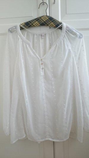 Esprit Zijden blouse wit