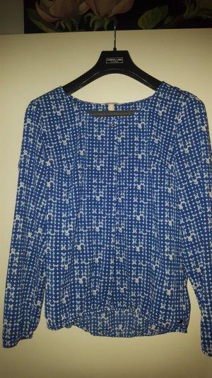 Esprit Slip-over blouse wit-blauw