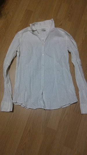 Esprit Cuello de blusa blanco-lila grisáceo