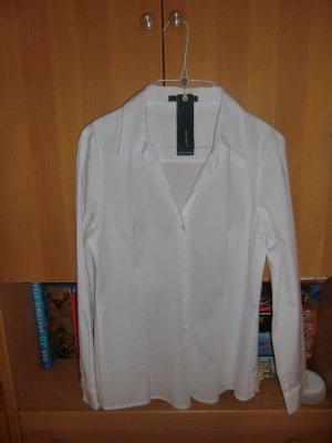 Esprit Blouse à manches longues blanc tissu mixte