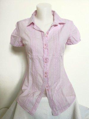 Esprit Camicetta con arricciature rosa chiaro
