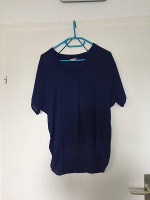 Esprit Bluse, kurzarm blau, Gr. 34