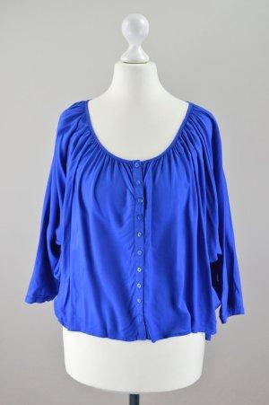 Esprit Bluse locker geschnitten blau Größe 36
