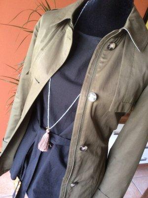 Esprit Bluse mit Bindegürtel in schwarz Gr.36