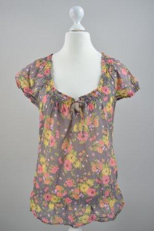Esprit Bluse mit Blumenmuster mehrfarbig Größe 40