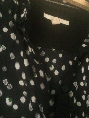 Esprit Bluse schwarz mit Pünktchen