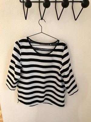 Esprit, Bluse, schwarz weiß gestreift