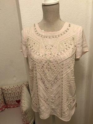 Esprit Bluse/Shirt mit aufwendiger Stickereien in Nude 89€