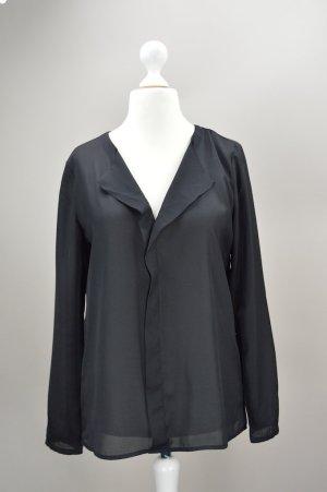 Esprit Bluse transparent schwarz Größe 36