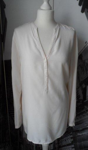 ESPRIT Bluse Tunika Offwhite Gr. 40 offwhite wenig getragen