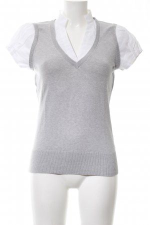 Esprit Dickey (for blouse) light grey-white flecked business style