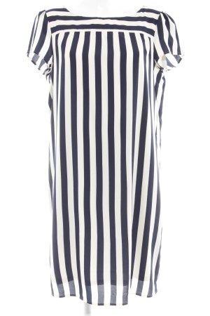Esprit Blusenkleid creme-dunkelblau Streifenmuster Romantik-Look