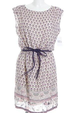 Esprit Blusenkleid creme-flieder Blumenmuster Beach-Look
