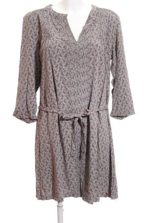 Esprit Blusenkleid grau-hellgrau abstraktes Muster Casual-Look