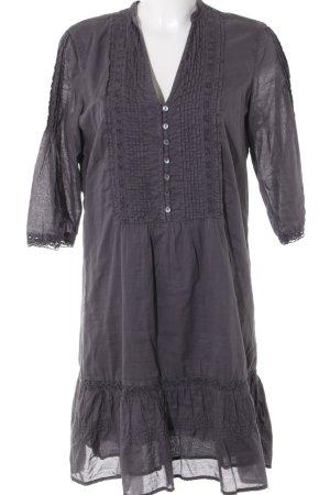 Esprit Blusenkleid grau Vintage-Look