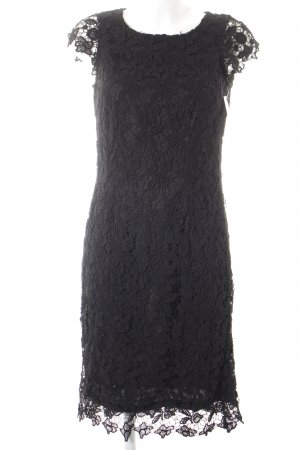 Esprit Blusenkleid schwarz florales Muster Elegant