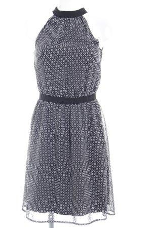 Esprit Abito blusa nero-grigio chiaro motivo a pallini stile casual