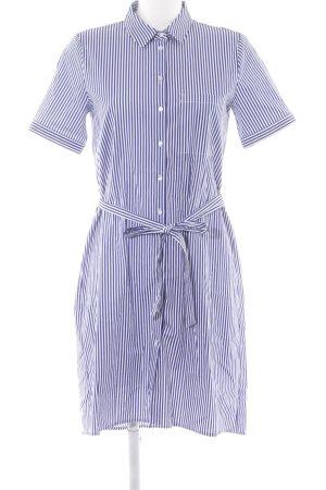 Esprit Blusenkleid weiß-blau Streifenmuster schlichter Stil