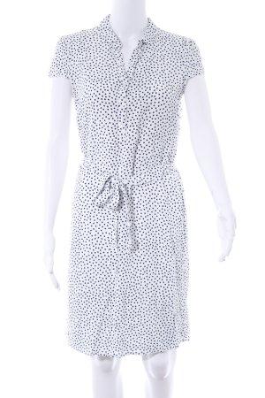 Esprit Blusenkleid weiß-dunkelblau Casual-Look