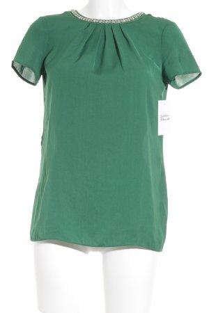 Esprit Blusentop waldgrün-silberfarben Elegant