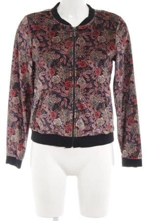 Esprit Bomber Jacket floral pattern velvet appearance
