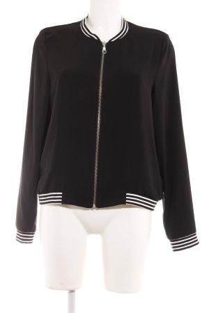 Esprit Bomberjack zwart-wit gestreept patroon college stijl