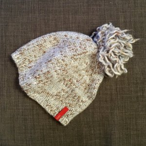 Esprit Knitted Hat pale blue-beige wool