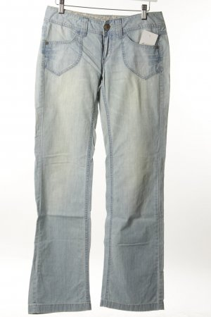 Esprit Boot Cut Jeans blassblau-wollweiß Casual-Look