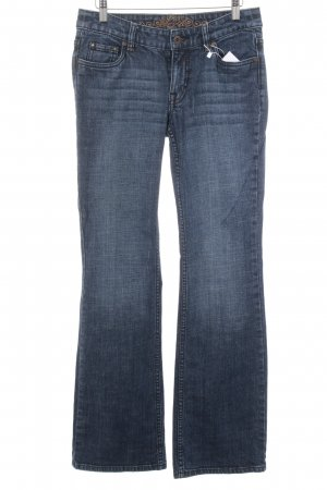 Esprit Boot Cut Jeans blau Washed-Optik