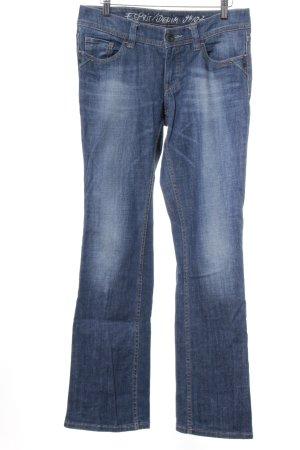 Esprit Boot Cut Jeans blau-wollweiß Washed-Optik