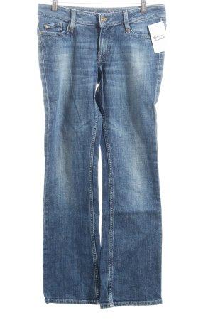 Esprit Boot Cut Jeans dunkelblau klassischer Stil