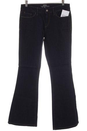 Esprit Boot Cut Jeans dunkelblau Logo-Applikation aus Leder